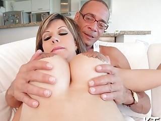Tranny One Big Tits Shemale Porn